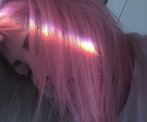 pink, girl, and hair image