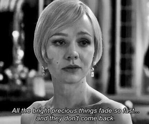 quotes, black and white, and the great gatsby image