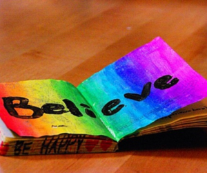 believe, book, and colorful image