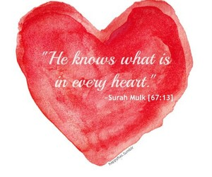 heart, allah, and islam image
