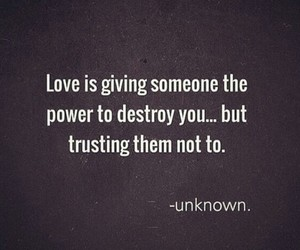 love, quotes, and trust image
