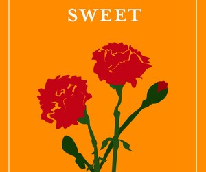 orange, poster art, and sweet image