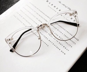 glasses, white, and book image