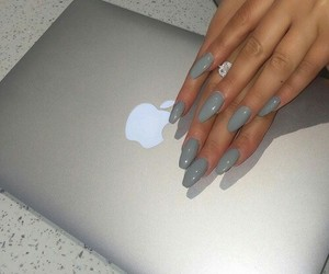 nails, apple, and grey image