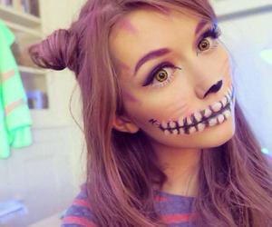 artist, girl, and makeup image