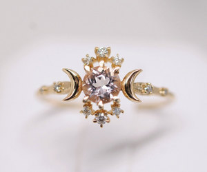 crystals, gold, and ring image
