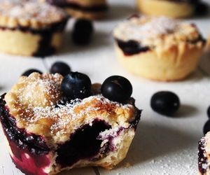 blueberry, pies, and desert image