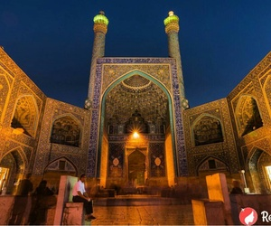 iran, middle east, and mosque image