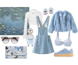 blue, bra, and grunge image