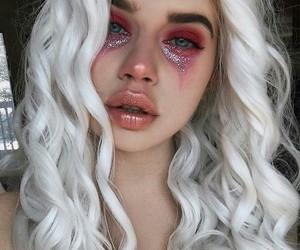 makeup, Halloween, and pink image