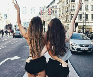 besties, brunette, and goals image