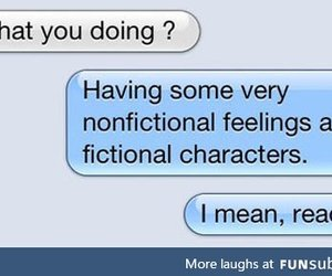 reading, book, and funny image