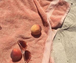 peach, beach, and aesthetic image