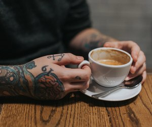 cappuccino, coffee, and cup image