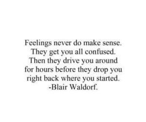 quotes, feelings, and blair waldorf image