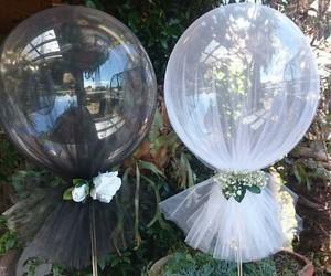 white and globos image