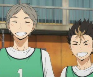 haikyuu, anime, and sugawara image