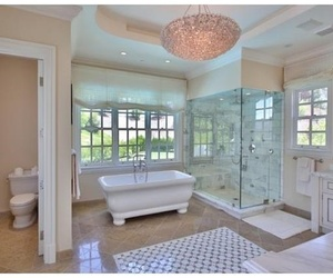 bathroom, mansion, and nice image