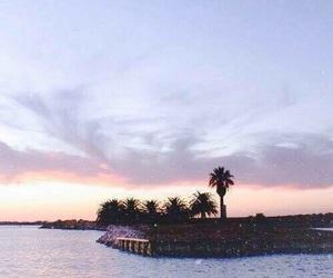 sky, beach, and sunset image