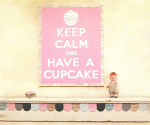 cupcake and keep calm image