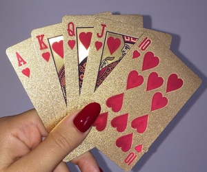 cards, gold, and nails image