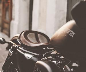 cafe racer, harley davidson, and motorbike image