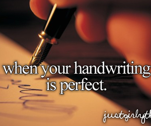 handwriting and perfect image