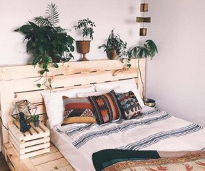 bedroom, plants, and home image