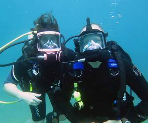 scuba, Belize, and diving image