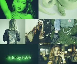 girl, green, and gigi hadid image