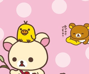 background, kawaii, and rilakkuma image