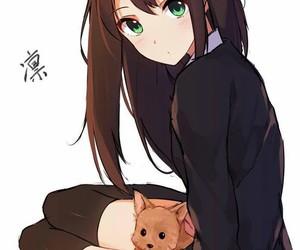 anime, kawaii, and dog image