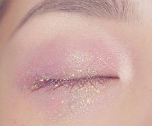 pink, glitter, and make up image