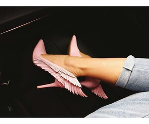 pink, shoes, and fashion image