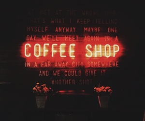 coffee, lights, and neon image