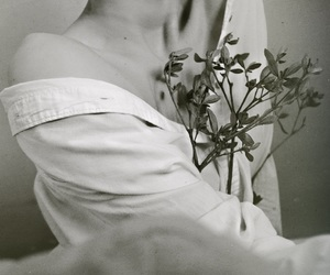 angel, body, and flower image