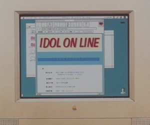 anime, computer, and idol image