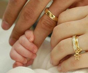family, rings, and hug image