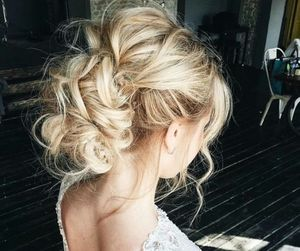 beauty, blonde, and bun image
