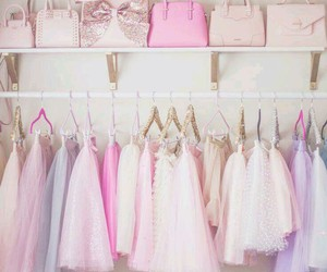 pink, girly, and dress image