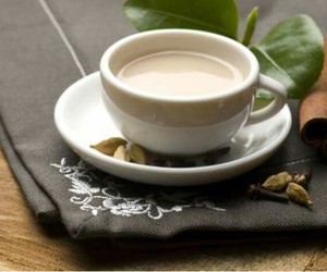 cup, milk, and tea image