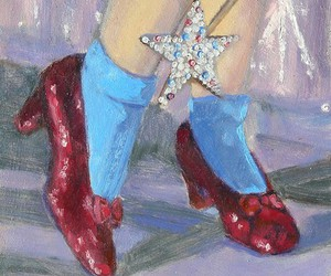art, painting, and Wizard of oz image