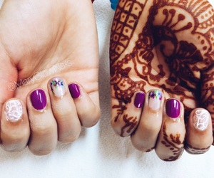 flowers, nails, and henna image