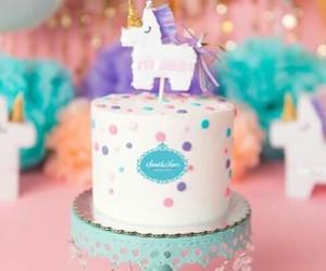 birthday, pastel, and cake image