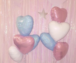 pink, balloons, and pastel image