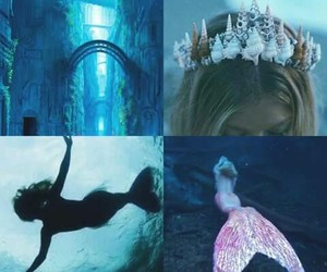 mermaid, magic, and blue image