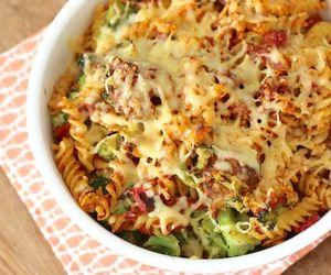 pasta, italian food, and broccoli image