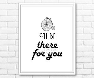 black and white, etsy, and friends quote image