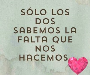 love, frases, and falta image