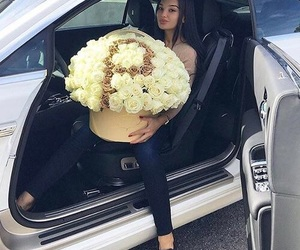 girl, luxury, and flowers image